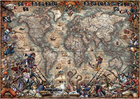 Pirates Map 2000 Bitar Educa