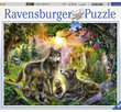 Wolf family in the sunshine 500 Bitar Ravensburger