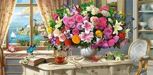 Summer Flowers and Cup of Tea 4000 Bitar Castorland