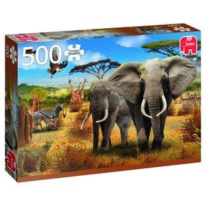 Afrikanska savannen 500 Bitar Jumbo