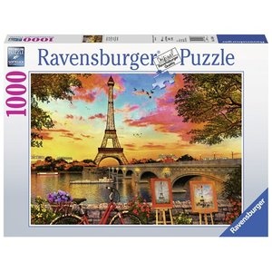 The banks of the Seine 1000 Bitar Ravensburger
