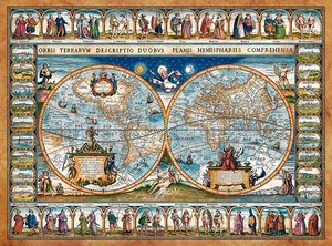 Map of the World 1639 , 2000 Bitar Castorland